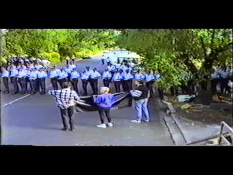 Raw footage police baton charge of Richmond Secondary College Protest -December 13th 1993