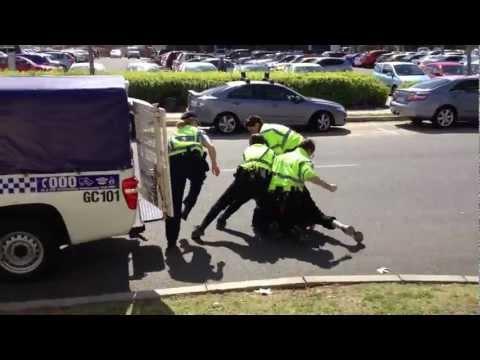 Police assaulting a 14yo boy in Western Australia