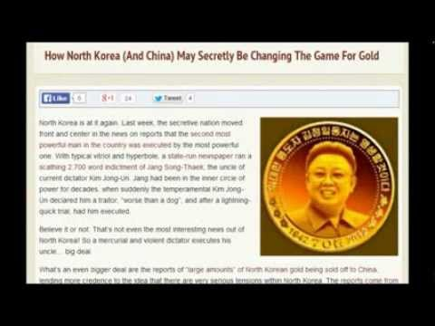 North Korea Selling Gold Reserve To China? NK Gold Mining Stopped.