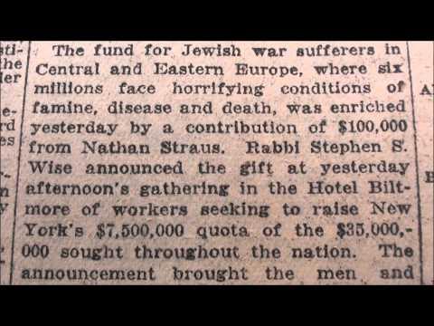 SIX MILLION JEWS CLAIM: 1915 - 1938 *BEFORE* Holocaust Even Happened!