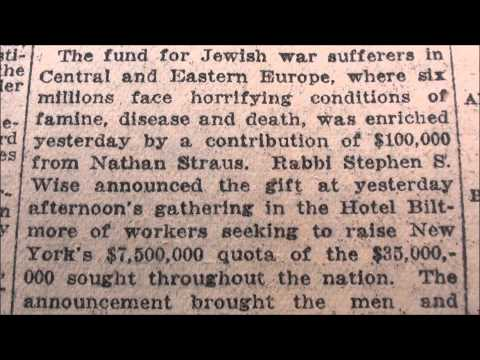 SIX MILLION JEWS CLAIM: 1915 - 1938 *BEFORE* Holocaust Even Happened!