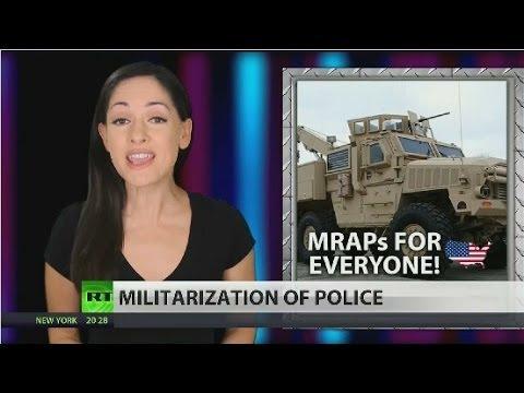 Pentagon arming US police with MRAP (Mine-Resistant Ambush Protected) combat vehicles