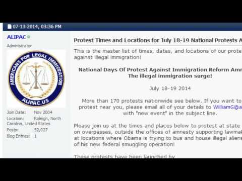 Nationwide Protest Against Illegal Immigration! Fight Back On July 18-19th 2014!