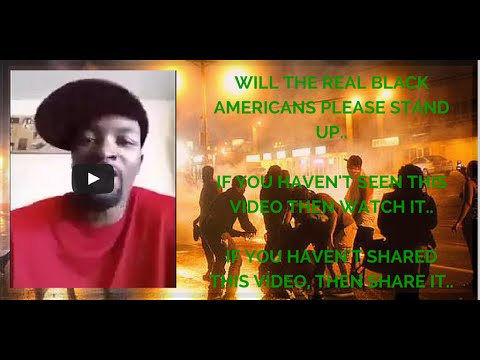 Will the Real Black Americans Please stand up. By Charles R. Patrick  Furguson
