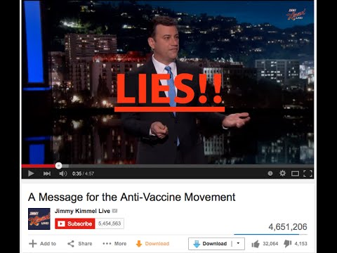 Jimmy Kimmel Pro-Vaccine Propaganda - Truth about Vaccines and Autism