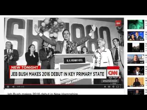 NOT AGAIN!! A Third BUSH to Run for Presidency: Jeb Bush 2016