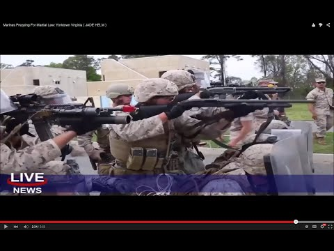 Marines Prepare To Gun Down Americans