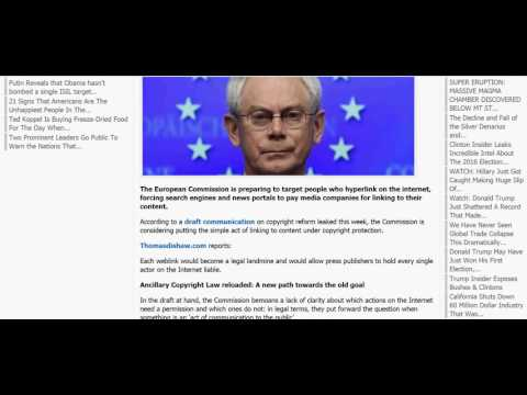 EUROPE READY TO MAKE LINKING TO WEBSITES ILLEGAL; NWO LOCKED & LOADED