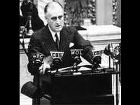 America Declares War on Japan - President Roosevelt Speech