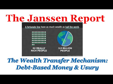 Steep growth of wealth inequality due to money as debt and usury