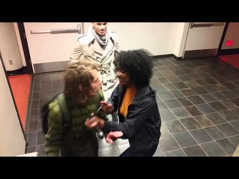 Black Student Assaults White Guy For Having Dreadlocks (along with the camera man)
