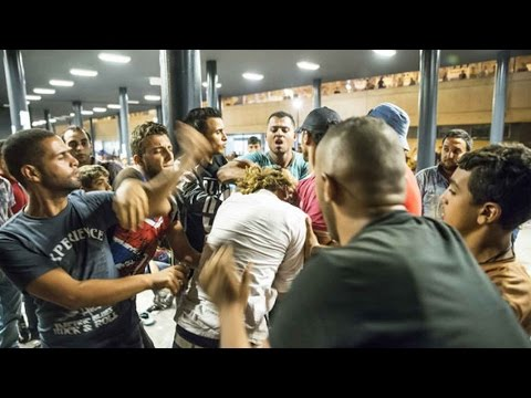 Over 8000 Terrorist Came With Refugees! Migrants Hitting Women, Girls, And Destroying Europe