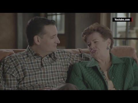 Watch Ted Cruz coach his family through a campaign ad shoot