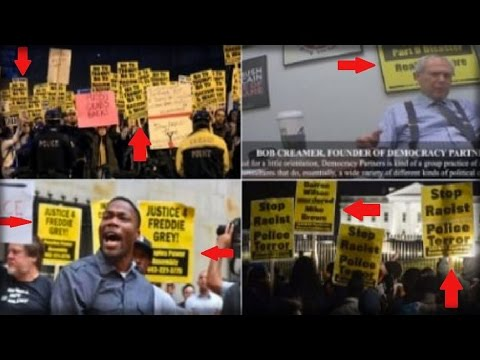 ALERT: DID ALL OF THESE PROTEST SIGNS COME FROM GEORGE SOROS AND BOB CREAMER?