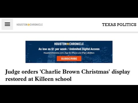 SR 1402 –  Texas Judge Orders Charlie Brown Christmas Display Reinstated
