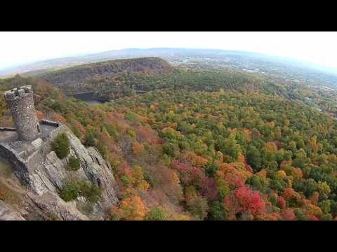 Flying Over Castle Craig in Meriden CT - 1 Of My Fav Local Hikes