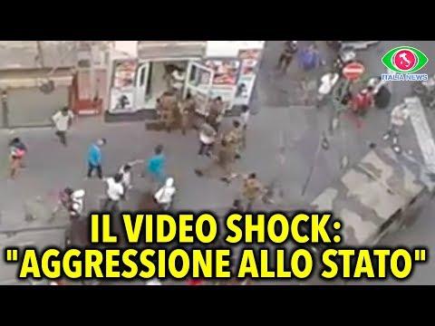 Immigrants attack Italian Army