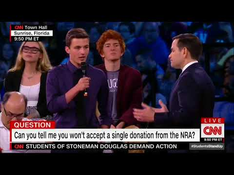 Teenager Relentlessly Badgers Marco Rubio at CNN Town Hall for Taking NRA Contributions
