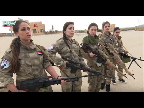 Totally HOT Syrian Christian girls defend their town from Western backed ISIS