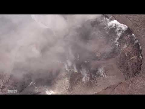 Dramatic Drone Footage Shows Massive Kilauea Crater Collapse, Miles Of Lava Devastation