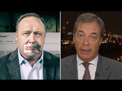 """""""They CAN'T Have it Both Ways!"""" Nigel Farage REACTS to the Alex Jones Ban"""