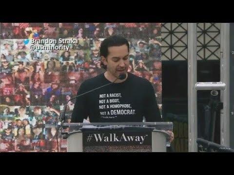 Brandon Straka's Speech at the #WalkAway March! Historical potential speech, a must watch!