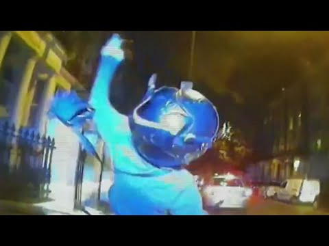 Video - UK police ram suspected moped thieves