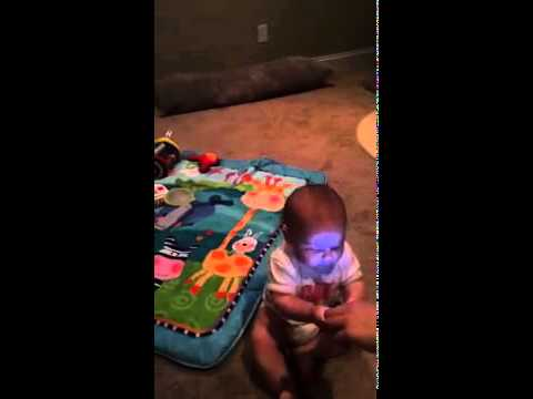 Baby Addicted to Mobile Phone