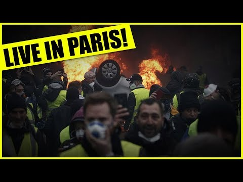 Video  stream of Yellow Vest protests in Paris (uncensored, non mainstream media)earlier today ...direct from man-on-the-ground Luke Rudkowski from WeAreChange