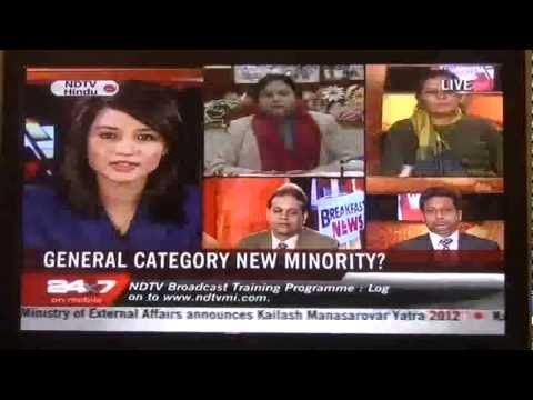 "Nursery  Admissions | ""GENERAL CATEGORY  NEW MINORITY"" Debate on NDTV 24 *7 