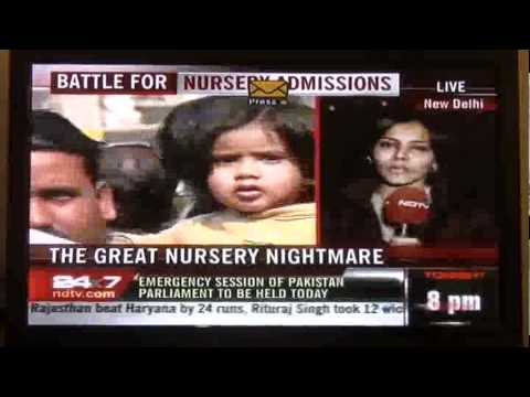 Nursery Admissions | Ndtv 24*7 | Sumit Vohra and  Parents of AN.com highlight  Donation Angle