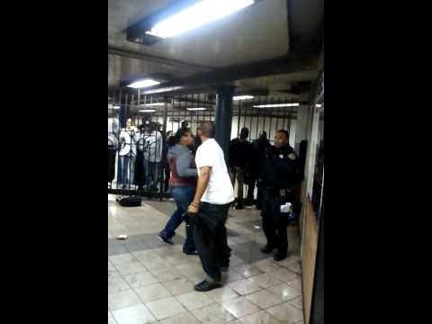 GIRLS FIGHT NYPD COPS IN SUBWAY (2 VIDEOS play the bottom one)