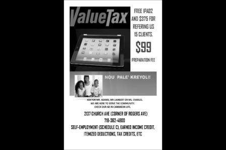 value tax promo