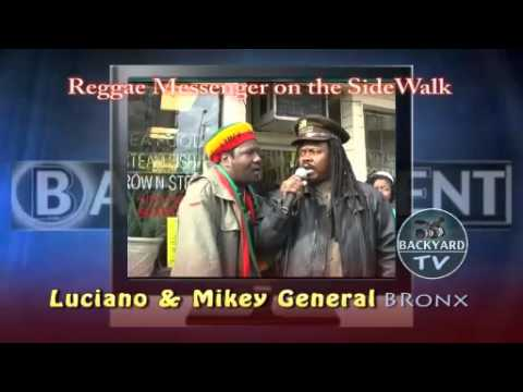 Luciano Sidewalk Show - sweep over my soul - reggae messenger - backyard tv