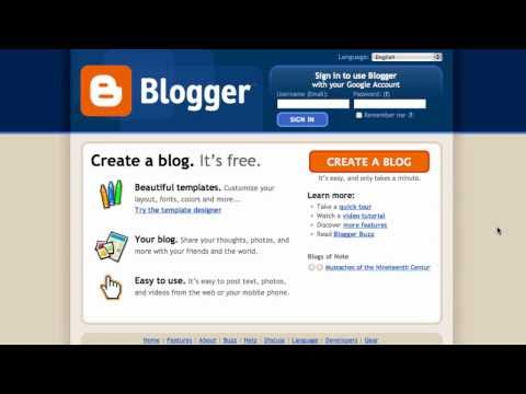 Setting up a simple blog in Blogger - Technical glossary