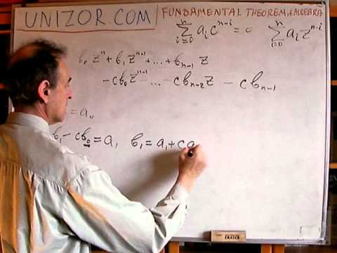 Unizor - Algebra - Fundamental Theorem