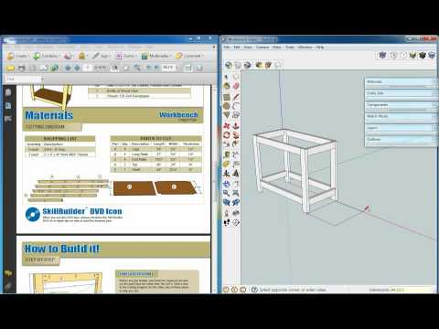 Kreg Workbench, Sketchup Video 1, Basic Model