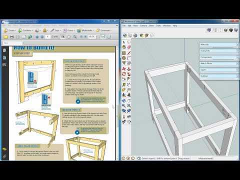 Kreg Workbench, Sketchup Video 2, Pocket Holes