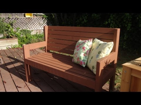 Build a simple garden bench. Also: contest time!