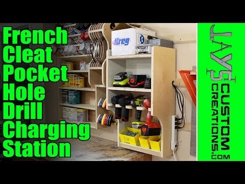 French Cleat Pocket Hole Drill Charging Station - 135