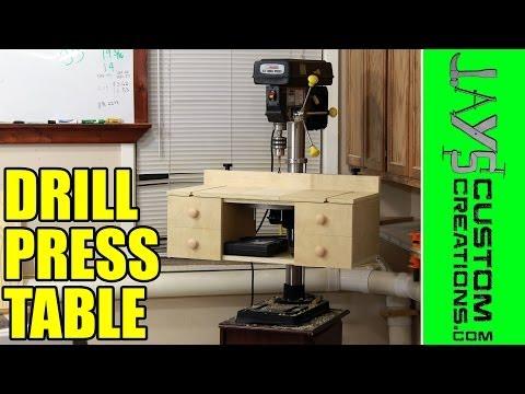 Pocket Hole Drill Press Table: Free Plans!