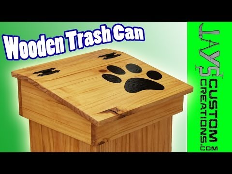 Make A Wooden Trash Can! Free Plans!! - 122
