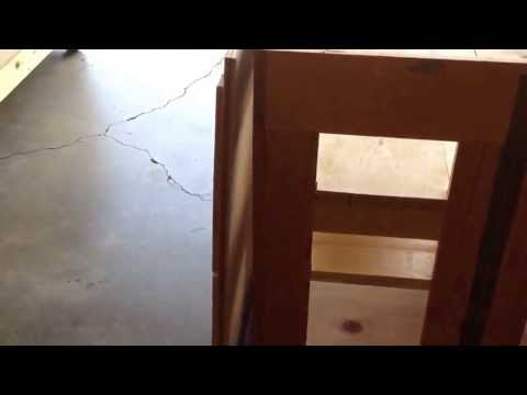 Woodworking Folding finish and assembly table Hinge fix