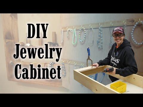 Jamie And I Making A Jewelry Organizer Cabinet