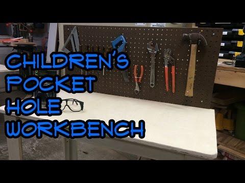 Pocket-Hole Workbench for Kids