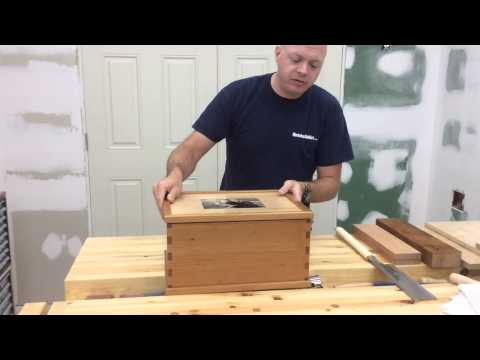 Wedding Card Box With Handcut Dovetails