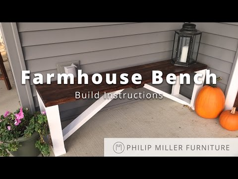 How To Make a Farmhouse Bench