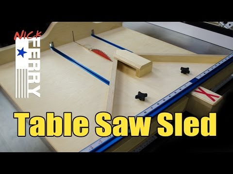 Make A Table Saw Cross Cut / Miter Sled Combo