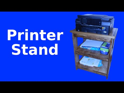 Make a Stand for Your Printer and Supplies