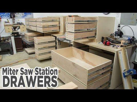 Miter Saw Station Storage Drawers
